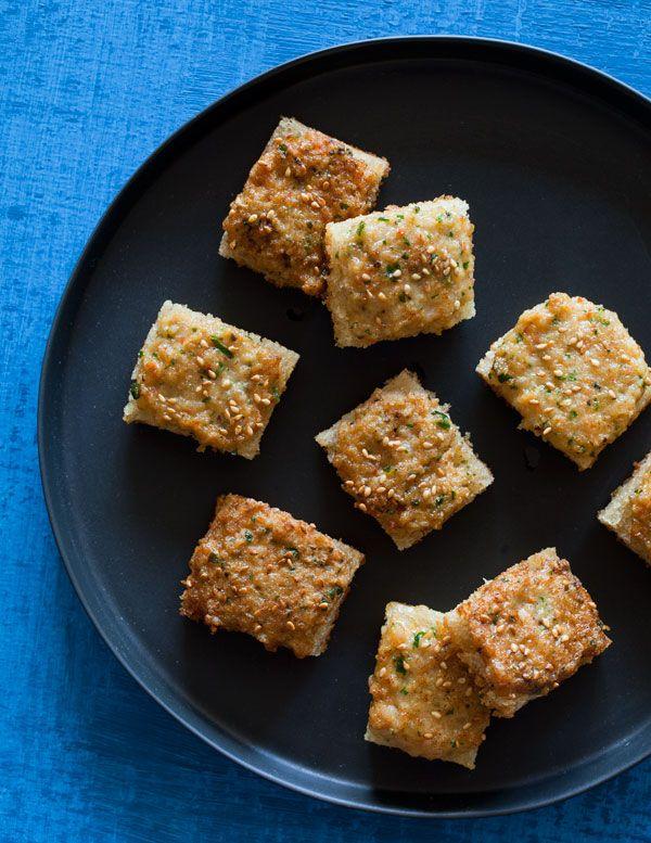 shrimp toast nuggets [pescetarian].