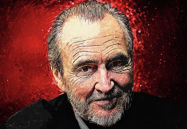 Wes craven, film director, writer, producer, actor, horror, film, movies, slasher films, a nightmare on elm street, Freddy Krueger,  scream series, ghostface, the hills have eyes, hollywood, cinema, wall art, poster, home decor, office decor, living room, bedroom, cafe, bar, pub, cool, gift ideas, halloween, haunted, goth, gothic, dark art, spooky, scary, Romero, zombie, serial killer, murder, murderer, bruce Wagner, illustration, digital painting, portrait