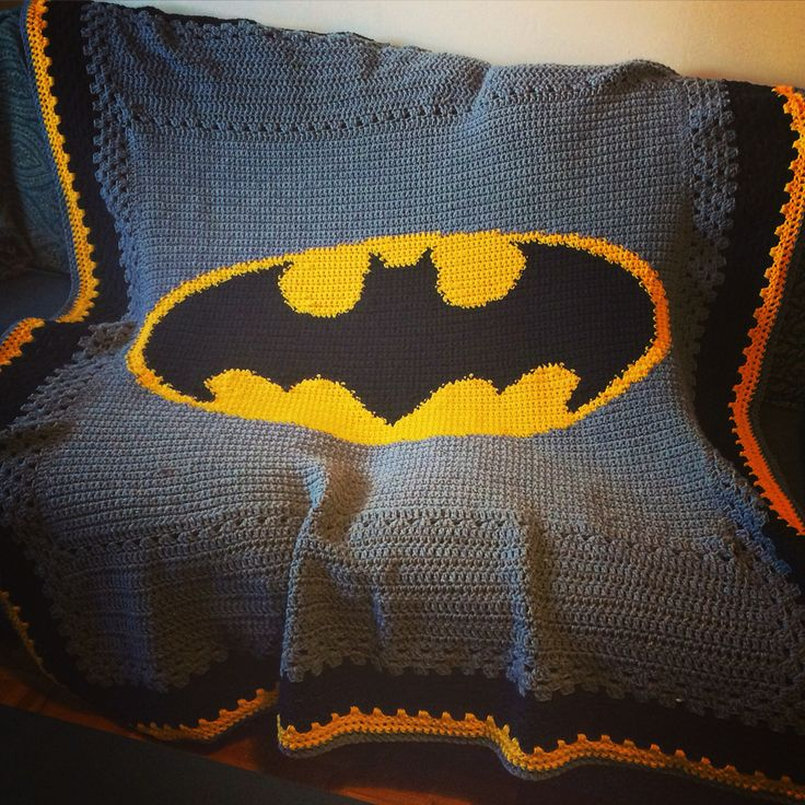 Na na na na na na na na BLANKET!   #crochet #batman