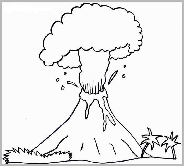 Active Volcano Coloring Pages Coloring Pages Coloring Pages For