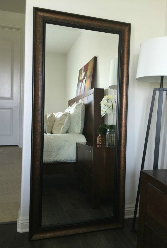 18 best floor mirrors images on pinterest floor mirror for Black framed floor mirror