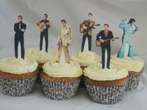 12-Elvis-Presley-PRECUT-WAFER-Edible-CupCake-Toppers-STAND-UPS
