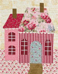 Sweetheart Houses Quilt - Block 9