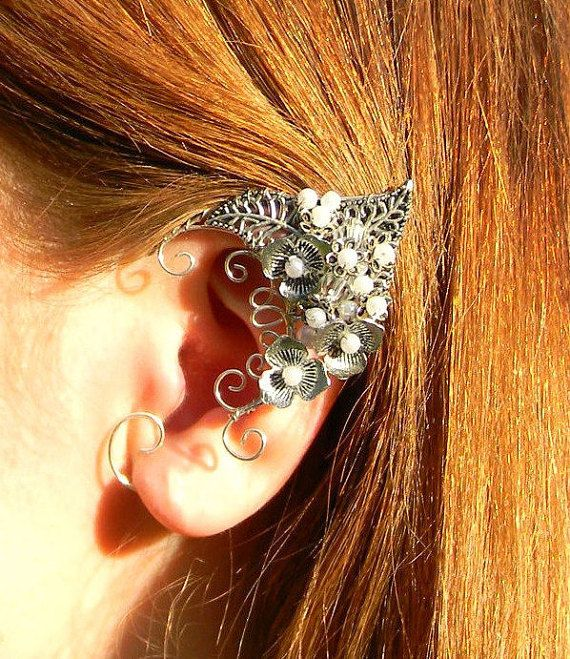Elven ears (a pair).elf earrings,no piercing earrings, LARP jewelry , fairy ears . Elfen-Ohrschmuck .