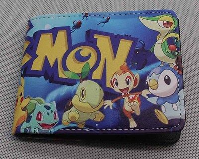 Pokemon Go Anime Wallet Cosplay Bi-Fold Purse Pu Leather Billfold