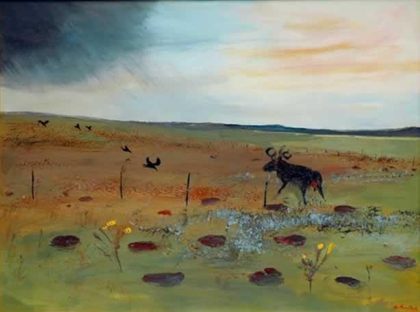 """Arthur Boyd """"Storm Approaching Berwick Landscape"""""""
