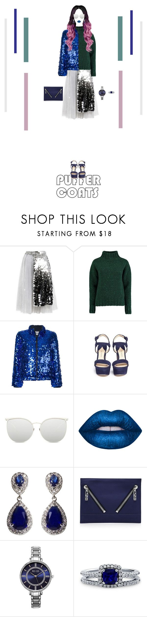 """""""Eccentric Style #5"""" by nello-hope on Polyvore featuring Anouki, Lowie, MSGM, Paul Andrew, Linda Farrow, Lime Crime, NEXTE Jewelry, Kenzo, SO & CO and BERRICLE"""