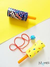 fabriquer un bilboquet avec un pouss-pouss