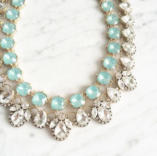 NEED a blue necklace for my wedding rehearsal/dinner. I really like the sparkle on this one.