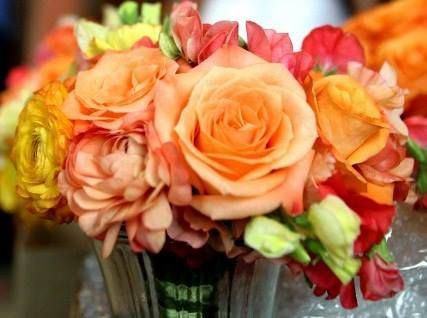 Modern Wedding Flowers In Kansas City Mo Featuring Orange And Other Fall Color Bridal Bouquets