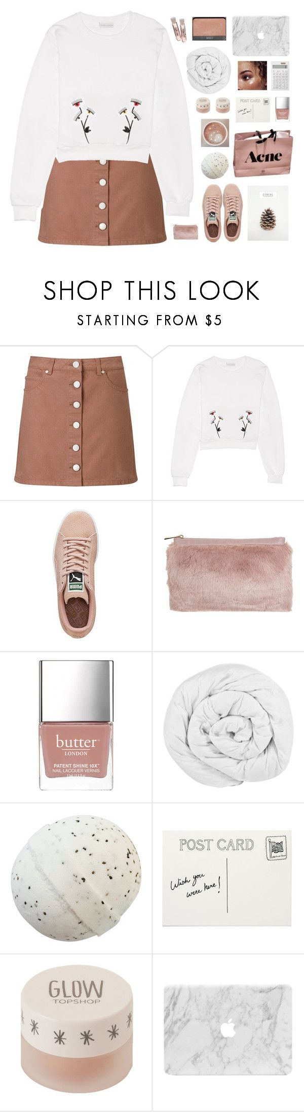 """「87.」"" by moonbeam-s ❤ liked on Polyvore featuring Miss Selfridge, Puma, Butter London, The Fine Bedding Company, Club Monaco, Topshop and Muji"