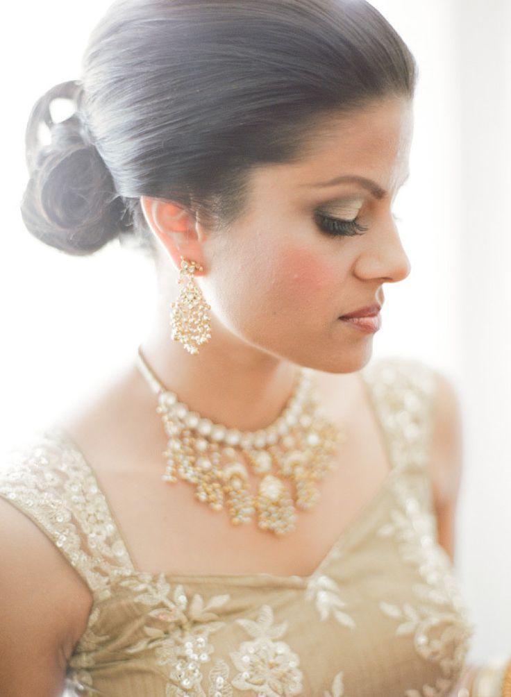 Stunning hair and makeup by Pretty Suite, Inc. |  Photography: KT Merry | See the totally gorgeous Hindu wedding on SMP: http://www.stylemepretty.com/2012/12/03/miami-beach-hindu-wedding-from-kt-merry-photography/