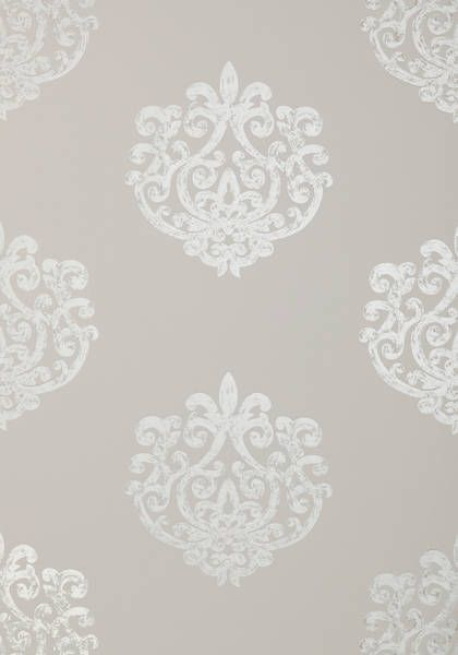Bold Arran - pearl on light taupe from the Lyric collection.