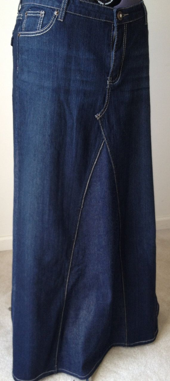 Plus Size 16W Long Denim Skirt | Plus size, Etsy and Skirts