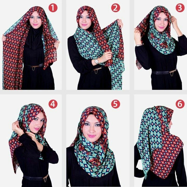 Model Hijab Pashmina Scarf Simple