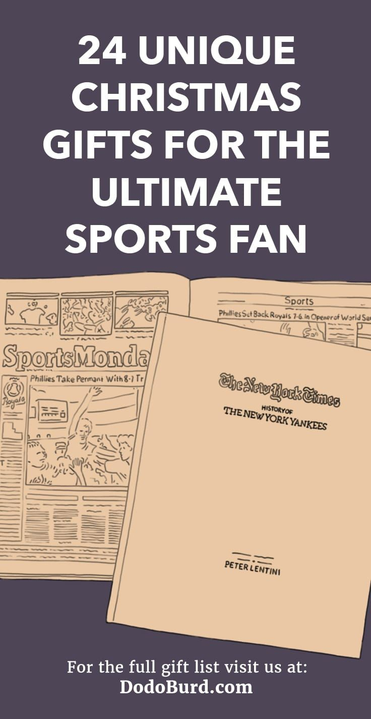 24 Unique Christmas Gifts For The Ultimate Sports Fan 2018 Gift Ideas Pinterest And
