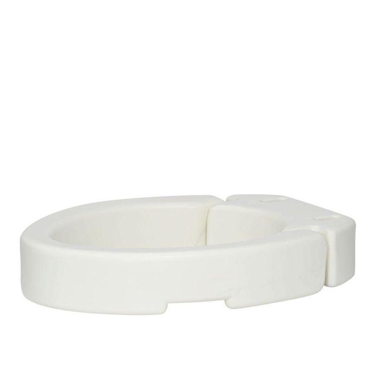 Carex Health Brands Hinged Toilet Seat Riser - Elongated, White