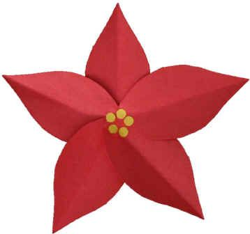"Paper Poinsettia Craft - great scissor skill activity. Use w/ Tomie DePaola's ""Legend of the Poinsettia"""