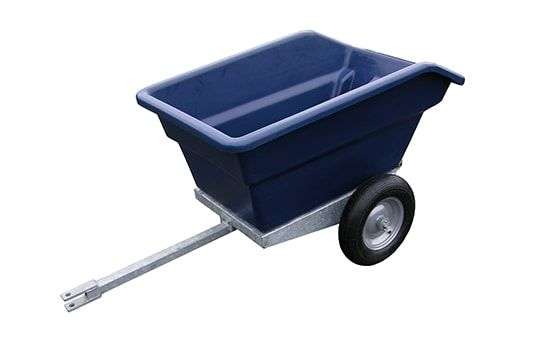 ATV tipping trailer 250 litres. suitable for ATV quad bikes, compact tractors, ride-on lawn mowers and UTVs. For more info contact us at http://www.fresh-group.com/trailers-trolleys-and-carts.html