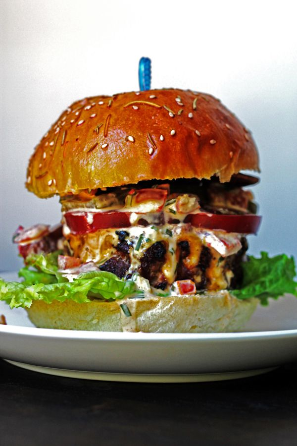 Beef and Pork Burgers with Freakishly Good Homemade Mayo   http://cookswithcocktails.com/beef-and-pork-burger-with-freakishly-good-homemade-mayo/
