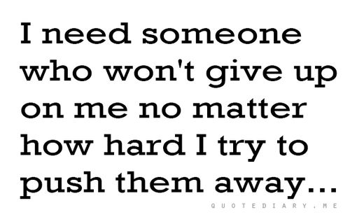 I get it... But you shouldn't push people away that you really don't want to go