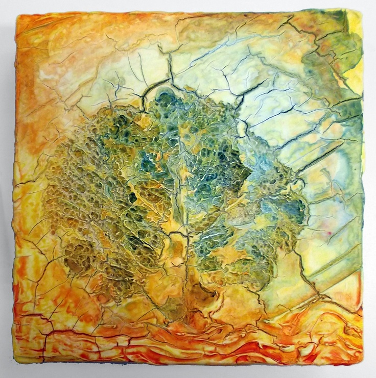 Mixed-media artwork by David R created during a 2012 plaster-painting residency with Adele Woolsey.