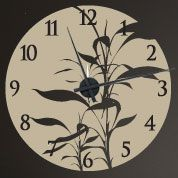 Bamboo Asian Wall Decal Clock Custom Made | Right On The Walls