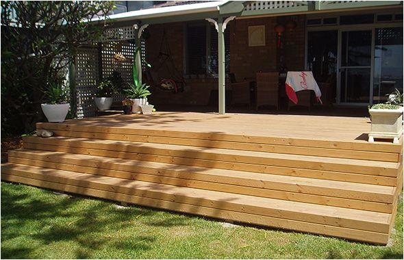 Timber Steps - Hardwood or Treated Pine