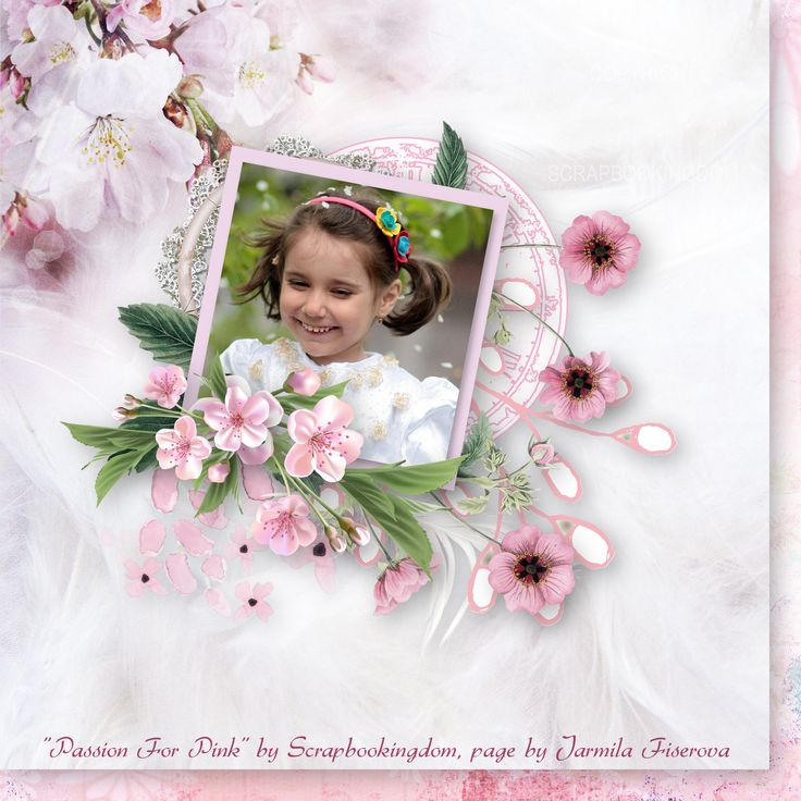 """""""Passion for Pink"""" by Scrapbookingdom,  https://www.etsy.com/au/listing/474977180/passion-for-pink-digital-scrapbooking?ref=shop_home_active_1, photo Adina Voicu, Pixabay"""