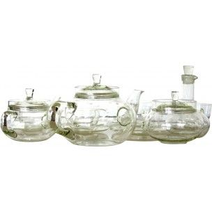 Mid-century tea set in glass, Ladislav SUTNAR - 1940s