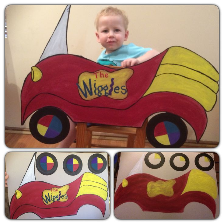 Big Red Car. Created this out of a piece of cardboard. Great use for pin the wheel on the 'Big Red Car' & Photo ops. My son loves it!