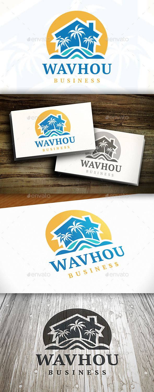 Beach Resort Logo Template — Vector EPS #professional #palm tree brand • Available here → https://graphicriver.net/item/beach-resort-logo-template/9472382?ref=pxcr