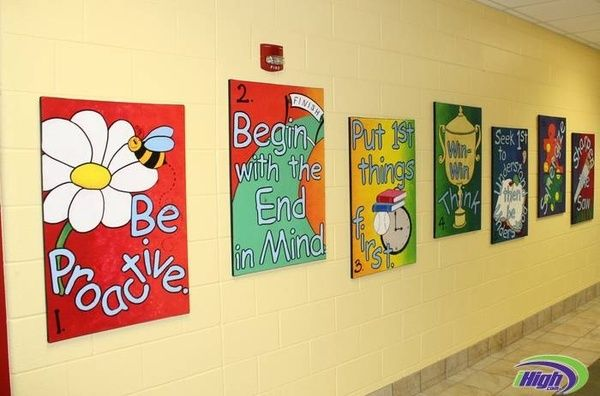 leader in me school hallways leader in me hallway murals
