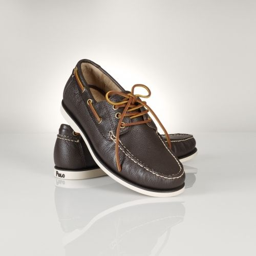 Dark Brown Leather Boat Shoes by Polo Ralph Lauren. Buy for $99 from Ralph Lauren