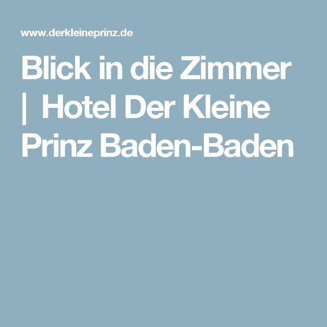 Blick in die Zimmer | Hotel Der Kleine Prinz Baden-Baden