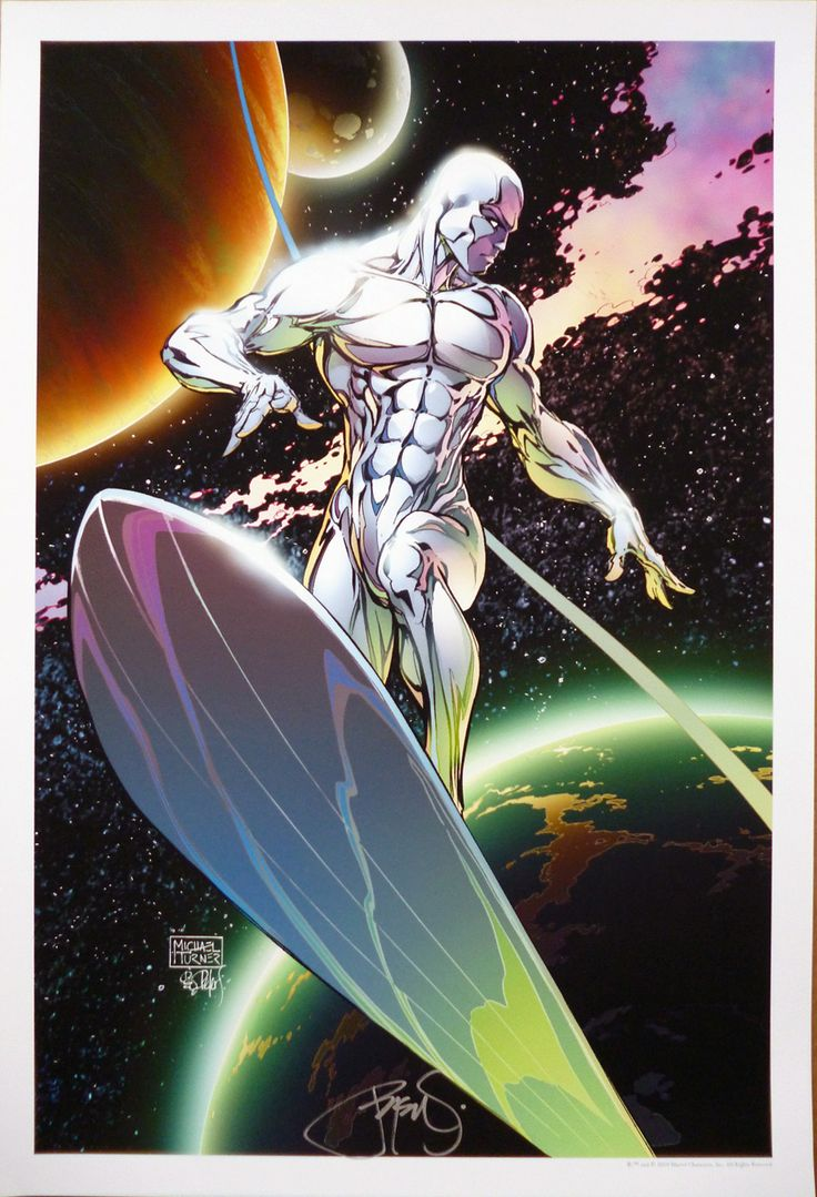 michael turner - SILVER SURFER ART PRINT BY MICHAEL TURNER & PETER STEIGERWALD
