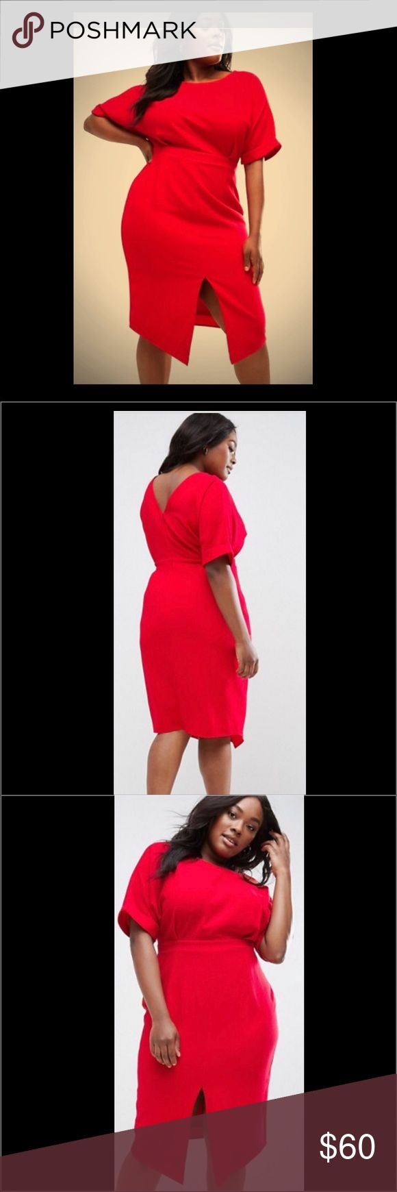 Size 20 ASOS Curve Smart Midi Dress - SHORT SALE Euro company. I thought sizes would run small. They don't. True to size. Great dress. I will repurchase in a size 18. Giving an opportunity for someone to buy before I return. Offer expires 5/27/17. Price is firm. ASOS Curve Dresses Midi