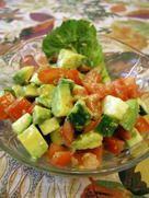 アボカド、きゅうりとトマトのサラダ by *茜* [クックパッド] 簡単おいしいみんなのレシピが269万品
