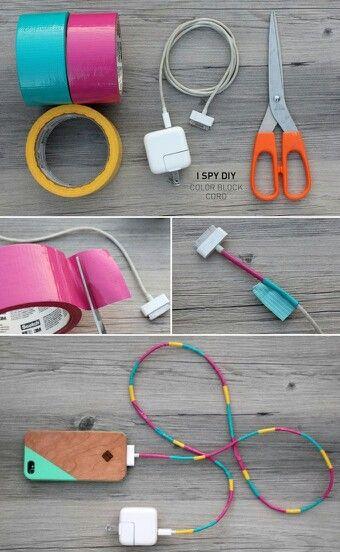 Personalize o cabo do seu carregador. Essa alternativa, além de decorar e…
