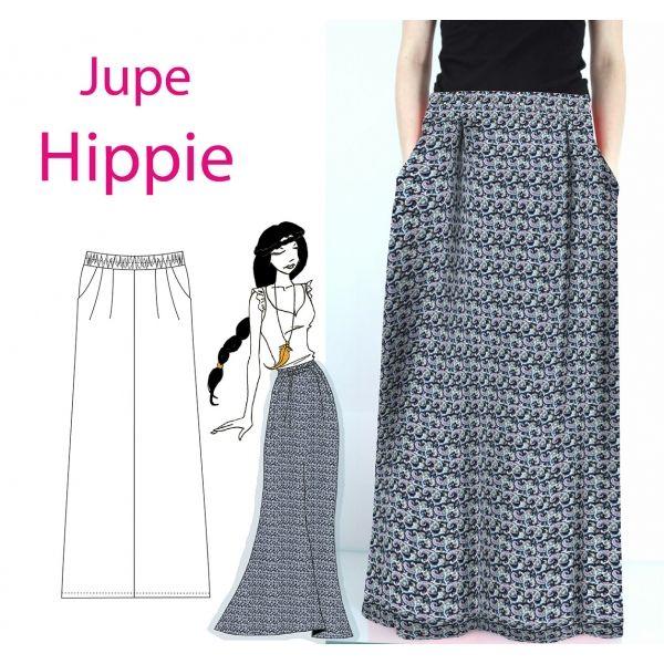 559966b37b3 Patron couture robe longue hippie
