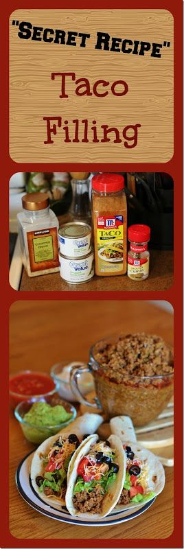 """""""Secret Recipe"""" Taco Filling - can b used for burritos, nachos, enchiladas, taquitos, mexican casseroles, Mexican pizza, layered dip, chalupas, taco pie and chilli. Joyful Momma's Kitchen"""