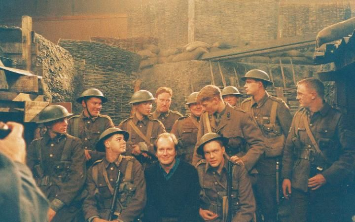 "William Boyd: ""This was on the set of The Trench. I loved it... All these young lads here are now hugely famous. There's Danny Dyer, Daniel Craig, Julian Rhind-Tutt, Ben Whishaw, James D'Arcy, Cillian Murphy. You've got six bona fide film stars in that. I was surrounded by a bunch of unruly young lads but they were all bloody good actors and none of them was well known. I didn't want any stars in the film. I saw 120 young actors and chose 11."""