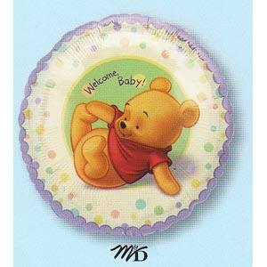 "Pooh Welcome Baby 18"" Mylar Balloon"