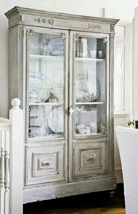 grey china cabinet adorable shabby chic 16083