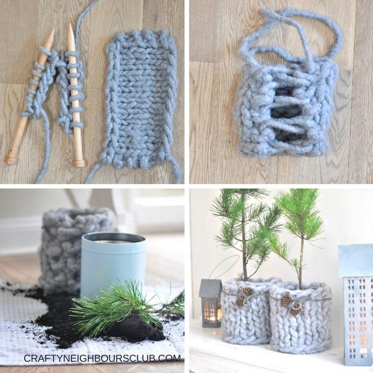 DIY mit chunky-wool. Ein neues Mäntelchen für den Tannenbaum mit Xl Wolle.