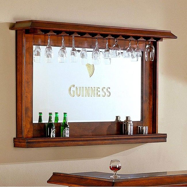 Guinness Bar Mirror do with any mirror and then paint whatever name you want on it.....love for man cave