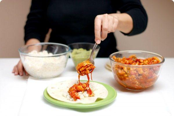 Fajitas de pollo mexicanas al estilo de Paula   Velocidad Cuchara
