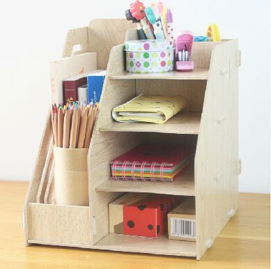 School and office supplies / Wooden Stationery Holder / File Tray / magazine rack / office racks / Desk Accessories & Organizer