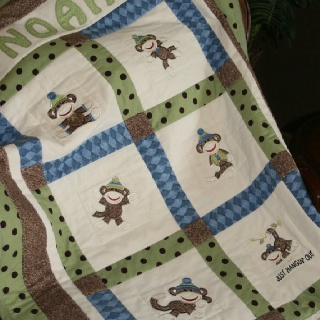 44 best Monkey quilts images on Pinterest   Comforters, For kids ... : monkey baby quilt pattern - Adamdwight.com