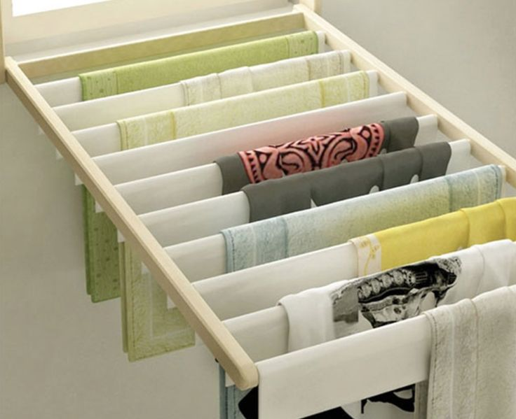 Folding wash rack that converts into window blind